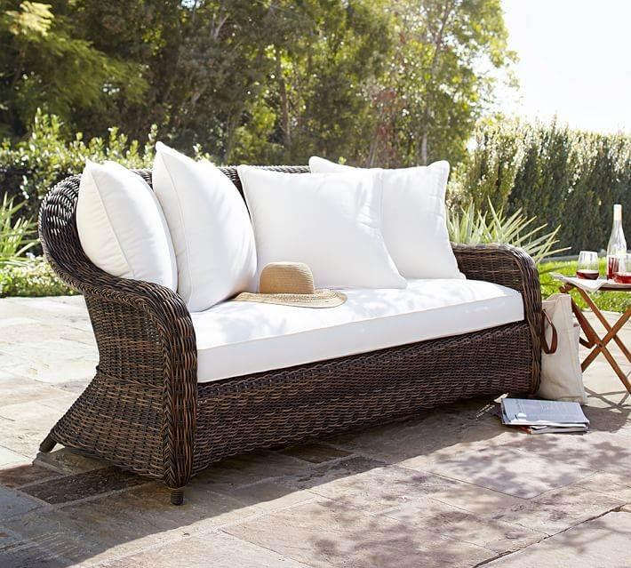 decoracion terrazas muebles rattan sofa moderna ideas