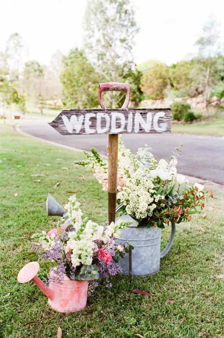 decoracion entrada boda verano