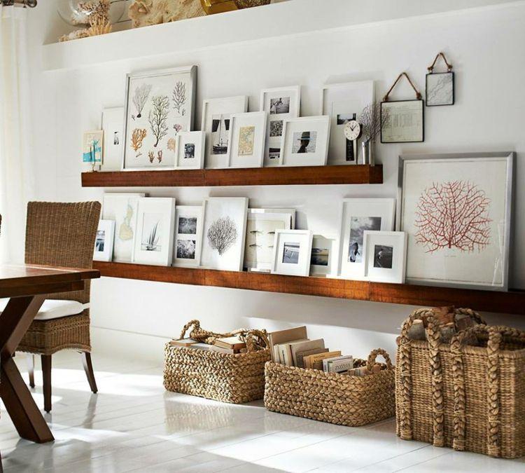 decorar con fotos naturales tejidos comedores