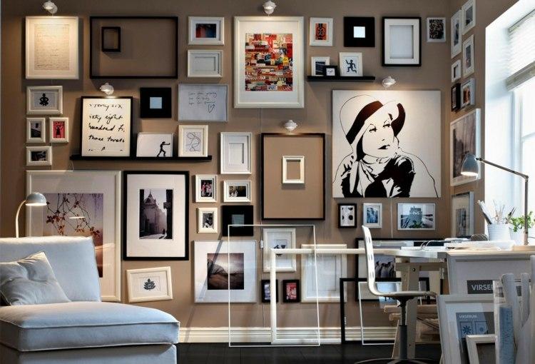 decorar con fotos soluciones enmarcadas muebles flores