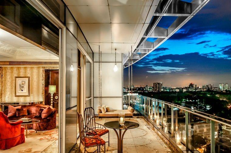 decorar terraza moderna apartamento lujo ideas