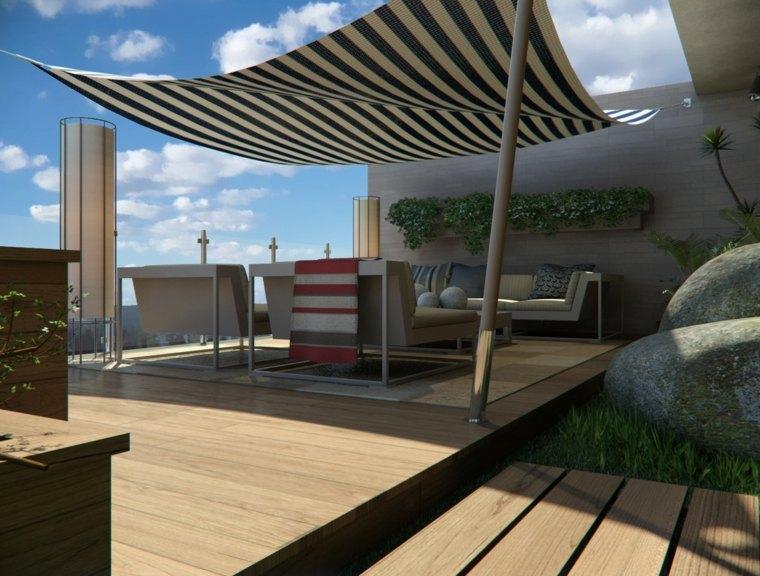 Decorar terraza peque a 24 dise os elegantes - Como iluminar una terraza ...