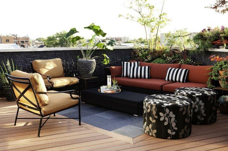 Decorar terraza peque a 24 dise os elegantes for Muebles terraza pequena