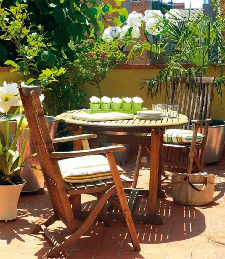 Decorar terraza peque a 24 dise os elegantes - Como decorar una terraza con plantas ...