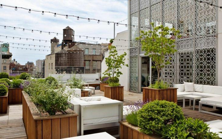 Decorar terrazas con detalles sencillos y econ micos - Jardines sencillos y economicos ...