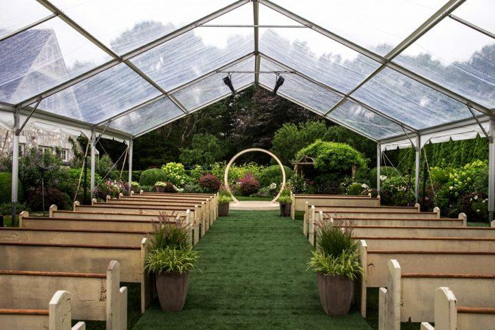 detalles para bodas primaverales bancos altar ideas