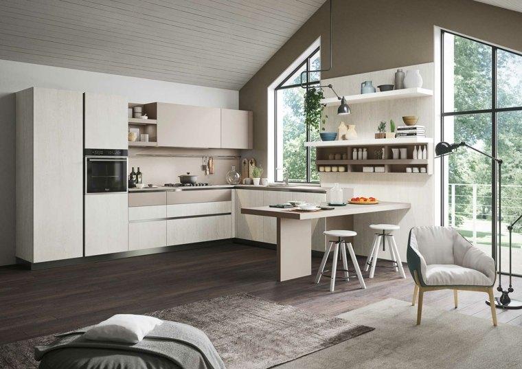 Cucina E Salone Comunicanti : Cocinas minimalistas de snaidero funcionalidad y estilo