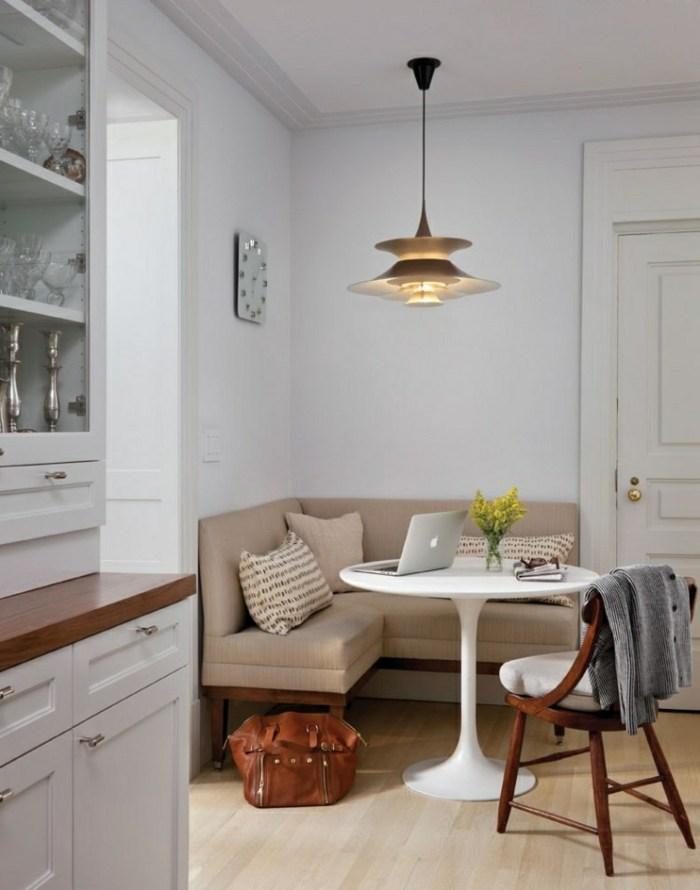 diseño de cocinas espacio agradable trabajo dorados