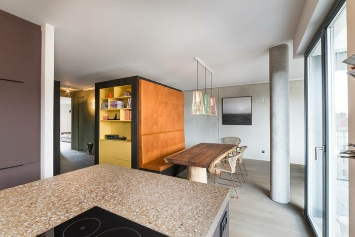diseño de cocinas espacio lamparas rocas modernos