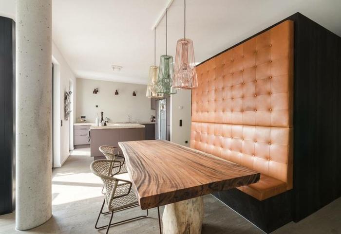 diseño de cocinas espacio rustico moderno pieles
