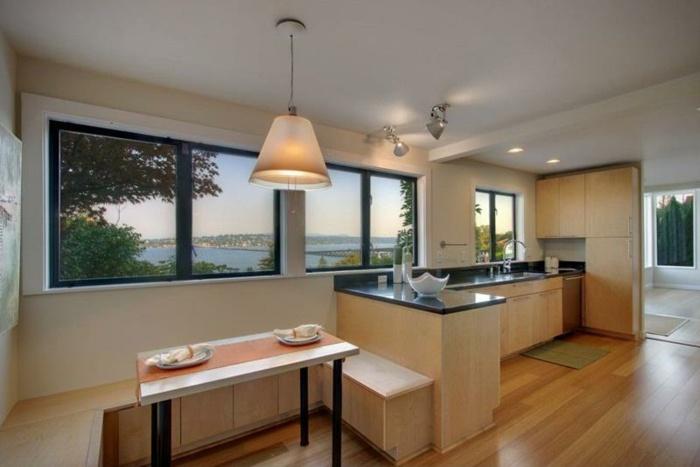 diseño de cocinas espacio sala madera calido