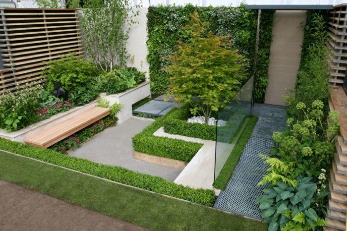 diseño de jardines ideas geometrico lineas