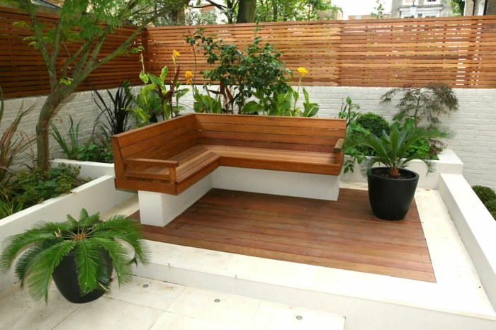 garden design ideas pots natural plants