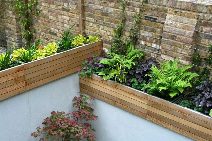 diseño de jardines ideas modernos jardineras trepadoras