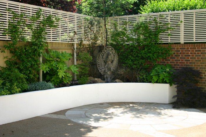 garden design ideas walls wood white