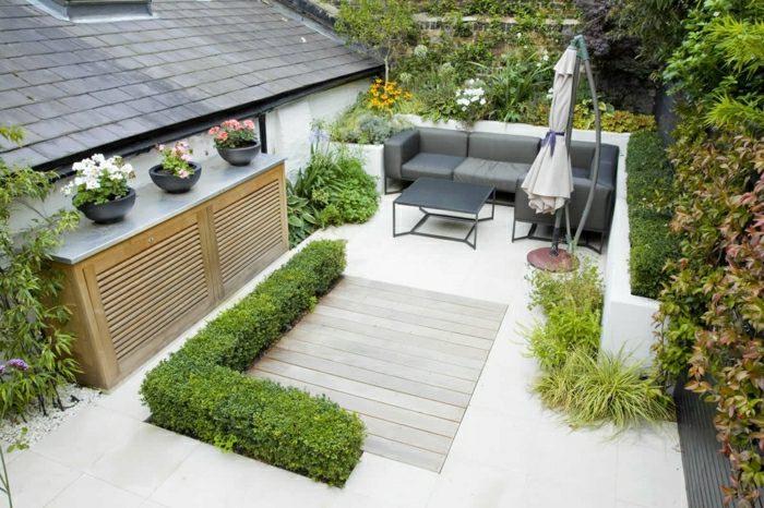 diseño de jardines ideas plantas jarrones