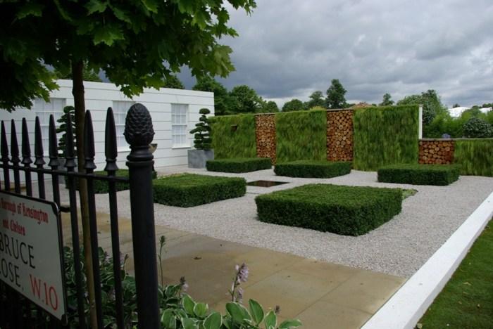 diseño de jardines minimalismo muros vegetales estilos