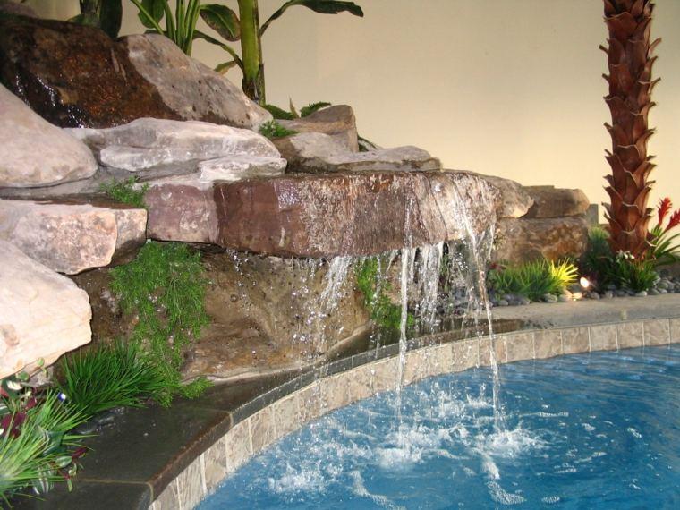 diseño estupendo fuente piscina