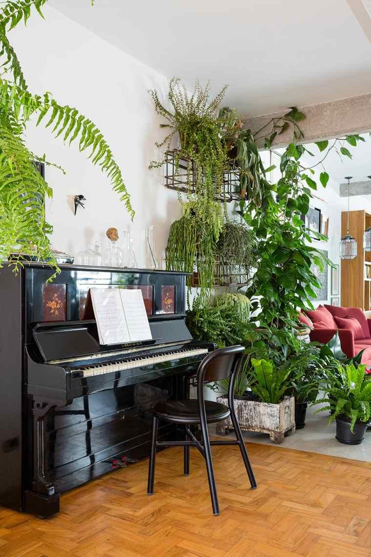 diseño interior sala piano negro