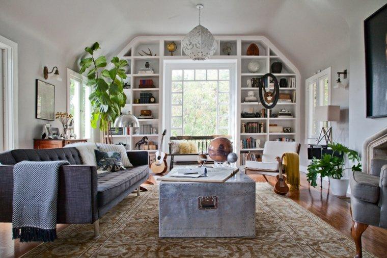 diseño interiores originales muebles grises
