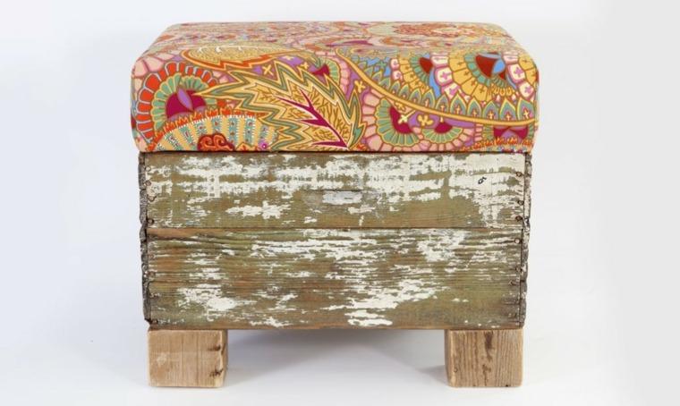 diseño taburete madera reciclada colmena