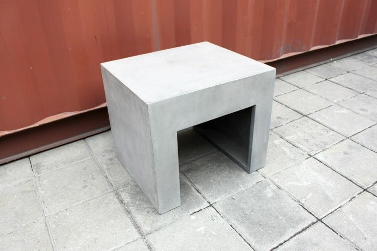 diseño taburete hormigon jardin cemento