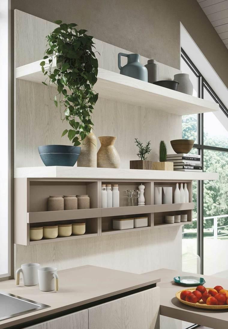 diseño estantes cocina modernos