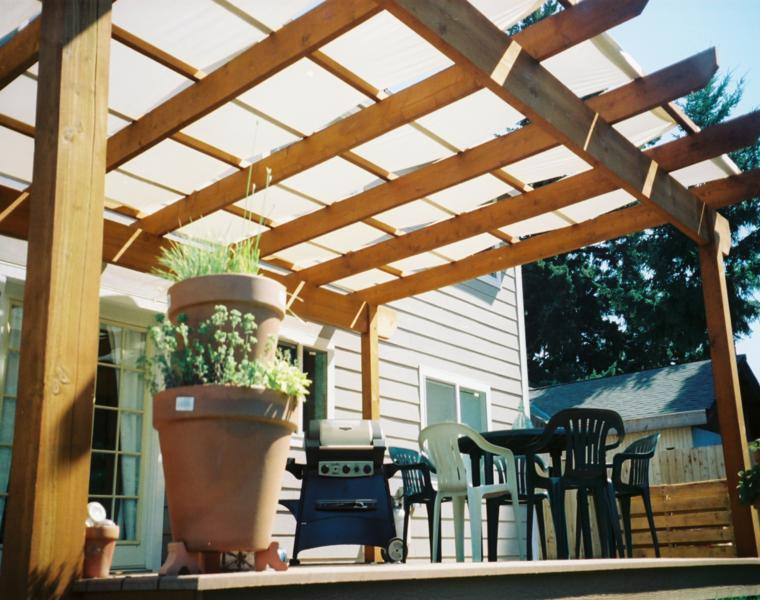 P rgolas madera dise os originales con tejados estilo - Pergolas de diseno ...