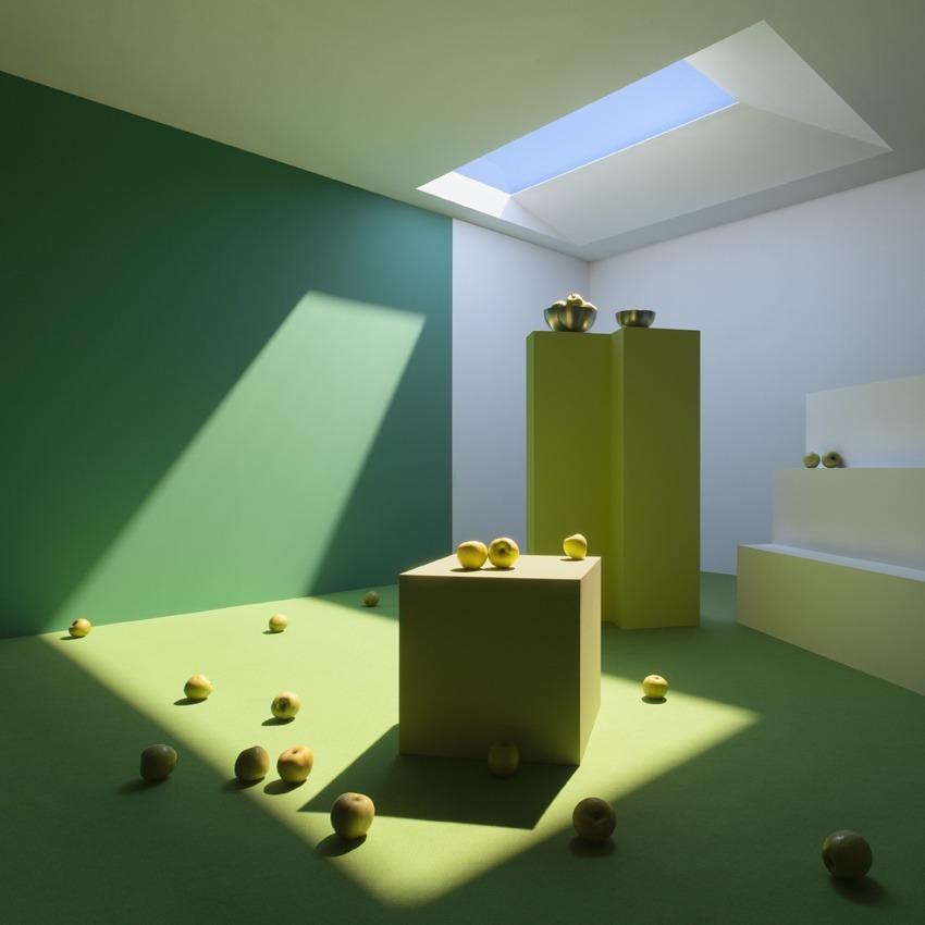 diseño habitacion color verde