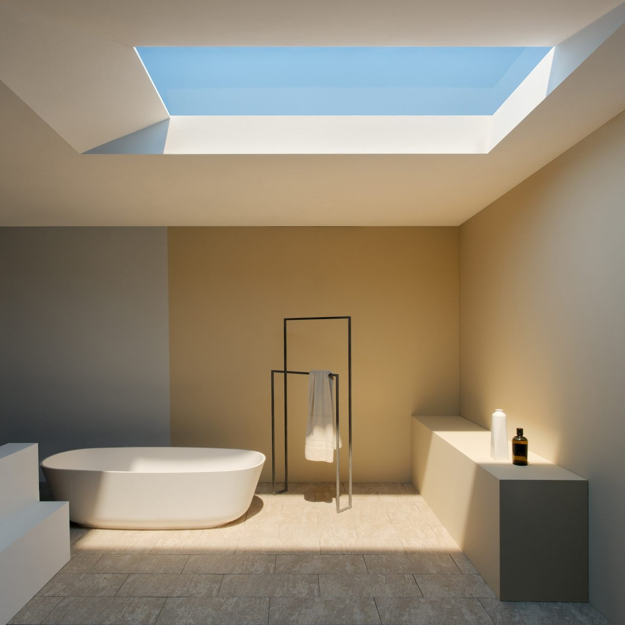 diseno cuarto baño moderno claraboya