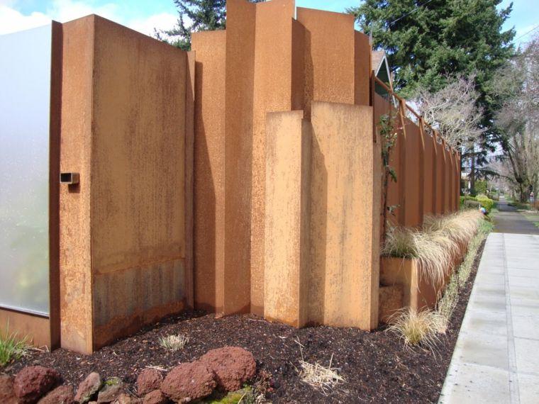 diseno moderno muro corten