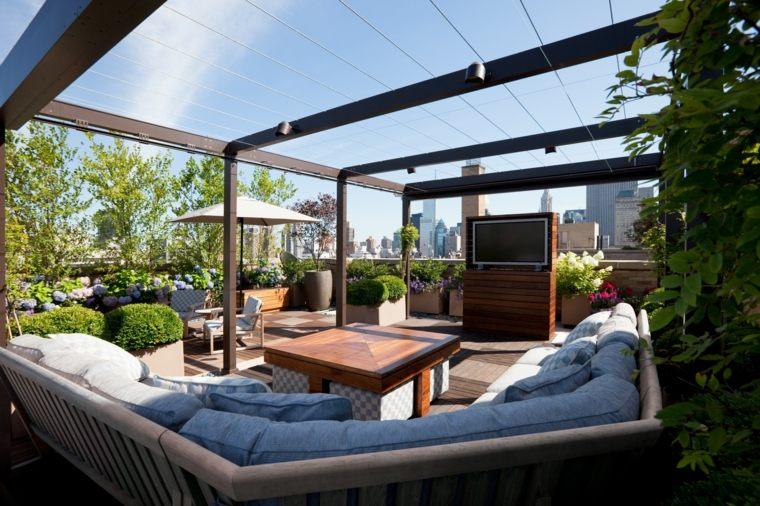 diseno terraza moderna sofa angulo ideas