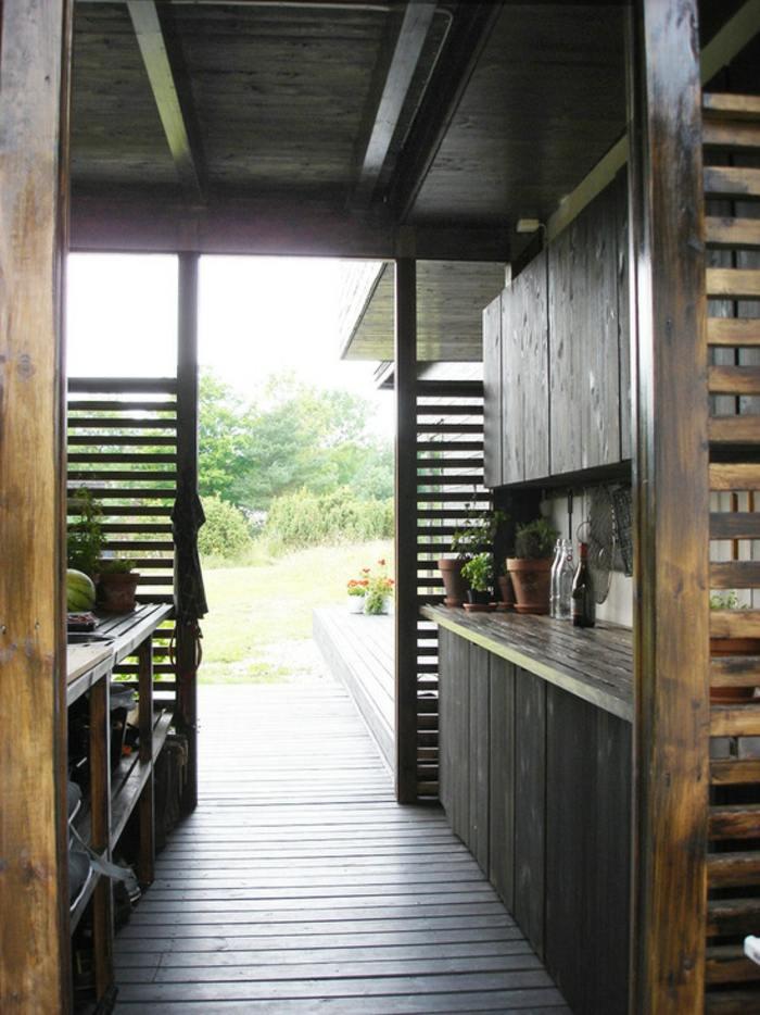 divina cocina estantes maderas suelos de madera
