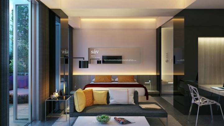 dormitorio iluminacion frscura color siluetas