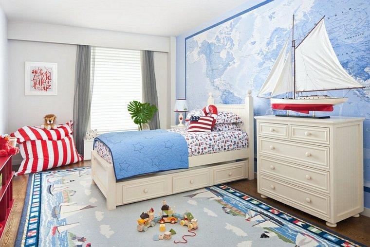 dormitorio nino decoración nautica
