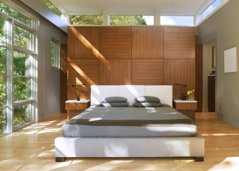 Habitacion matrimonio moderna dormitorio moderno blanco - Diseno dormitorio ...