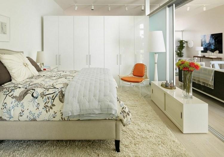 dormitorios tendencias modernos escandinavos naranja