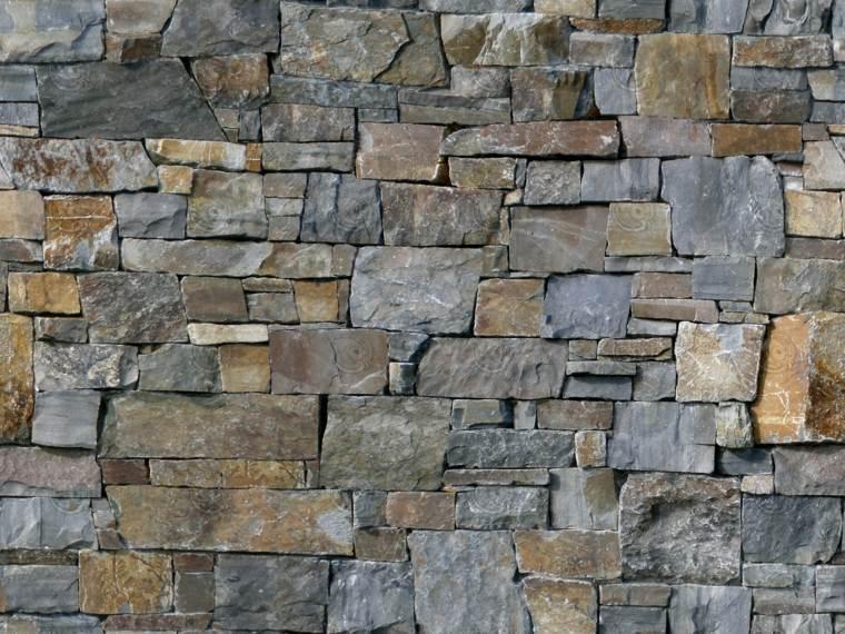 Muros de piedra seca sin cemento 24 ideas para jardines - Pared de piedra interior ...