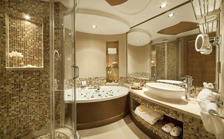 bonito diseño gresite baño