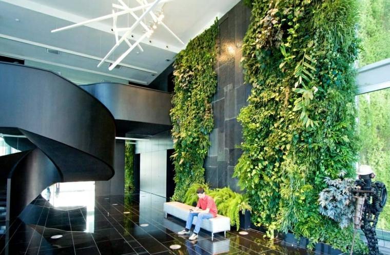 edificios pared muestras estilos muebles