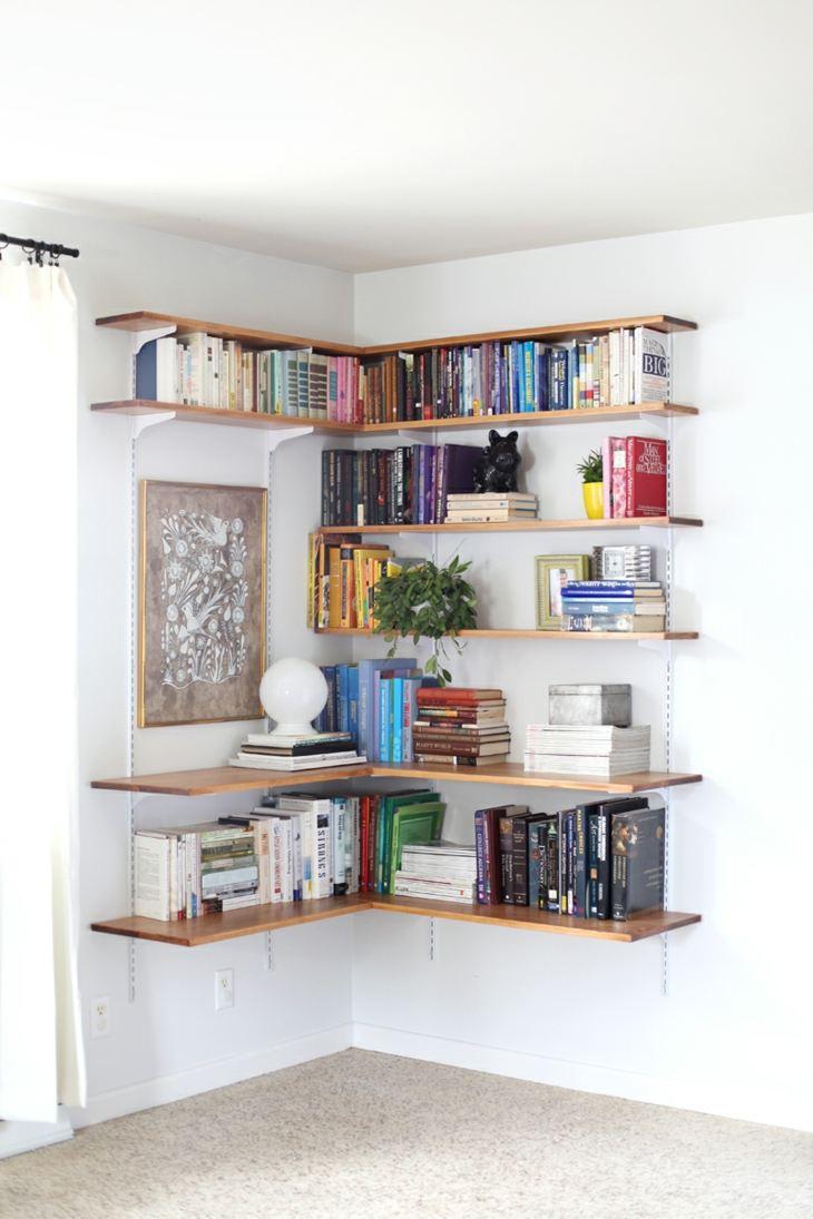 el espacio comedores libreros madera faroles