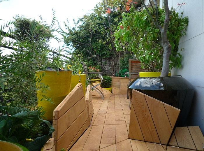 elegantes figuras creaciones muebles sitios jardineras