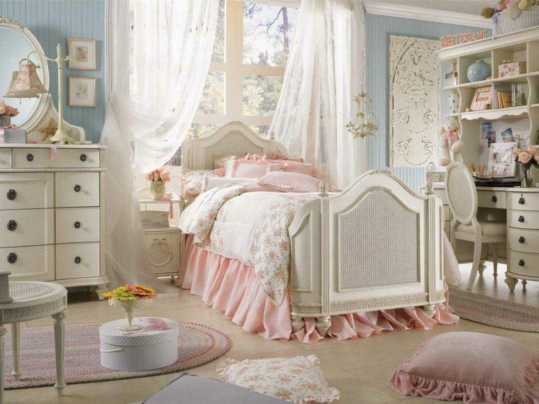 encantadoras habitacion infantil rosas cremas ideas
