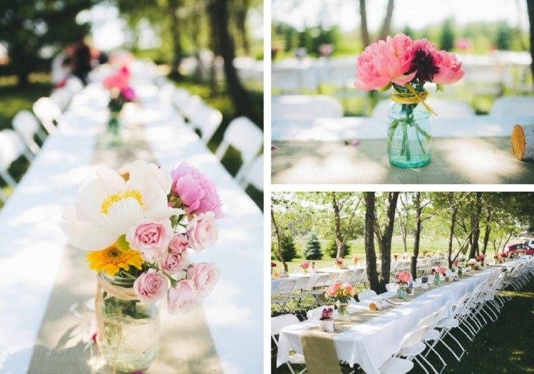 mesas boda diseño verano