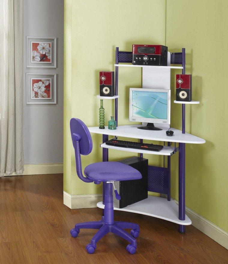 Corner desk kids room escritorios juveniles 24 modelos for Escritorios modernos