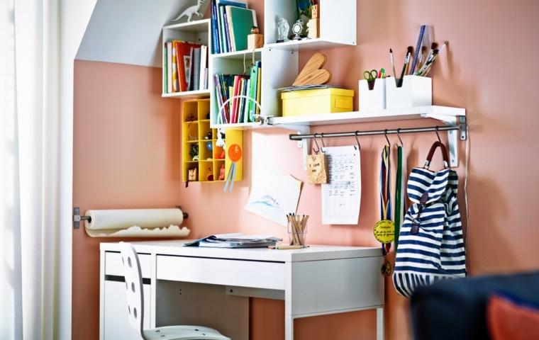 escritorios juveniles color blanco modernos