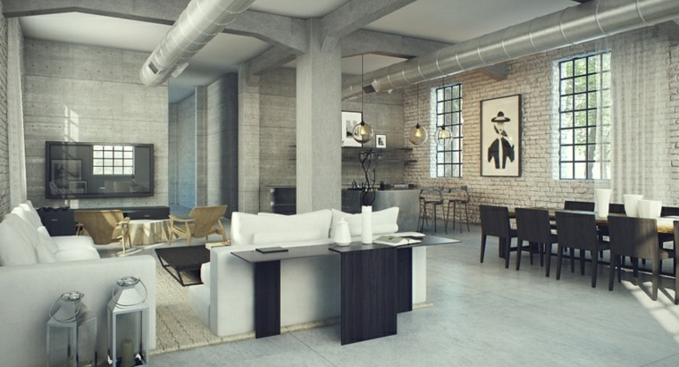 espacios interior estilo moderno