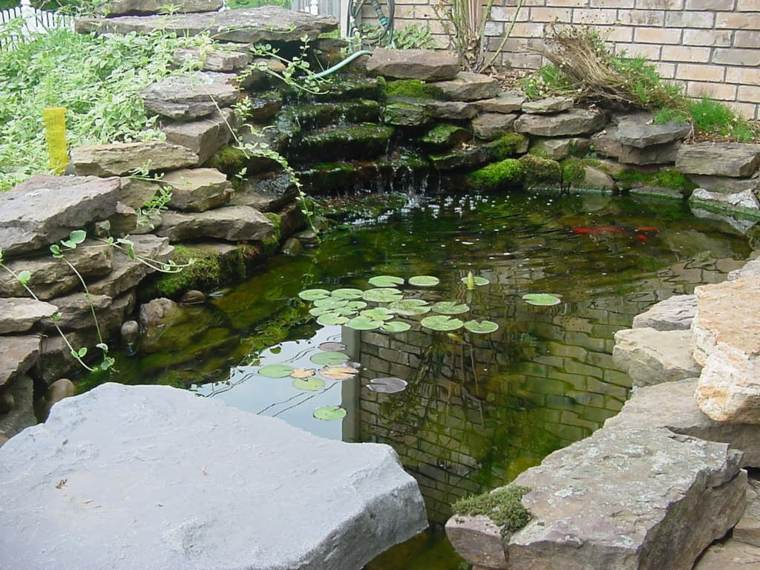 Cascadas y fuentes de jard n modernas 42 ideas estupendas for Best fish for small pond