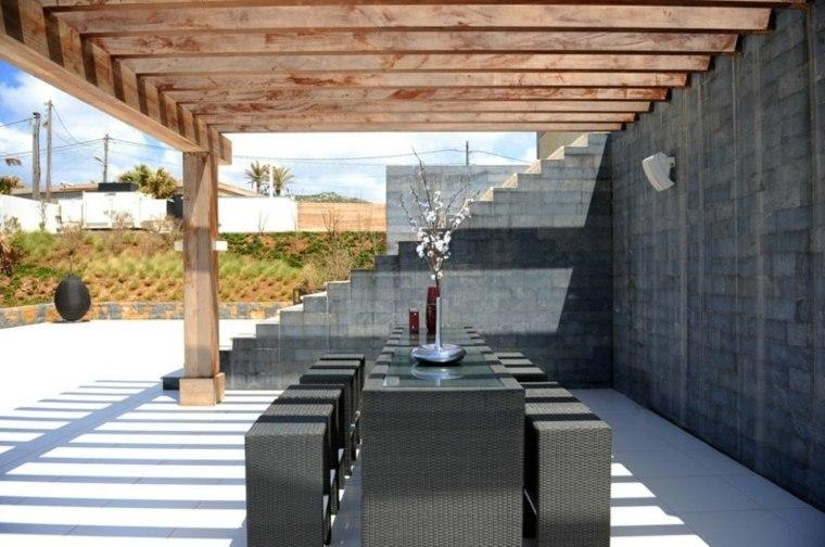 estructuras cemento jardines modernos minimalistas