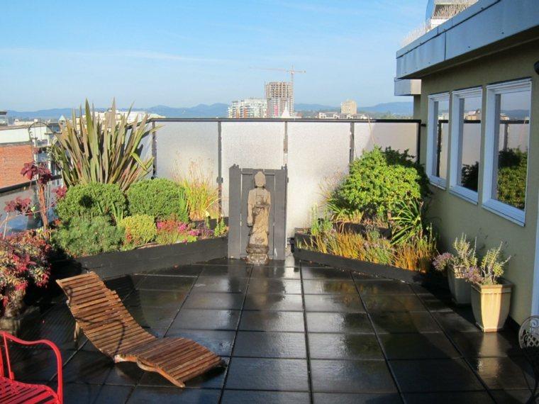 estupendo diseño terraza zen